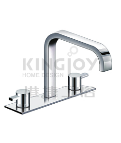 (KJ812R002) 3-hole bath mixer deck