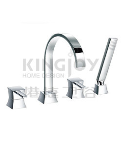 (KJ818R000) 4-hole bath/shower mixer deck-mounted