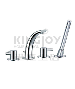 (KJ828R000) 4-hole bath/shower mixer deck-mounted