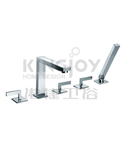 (KJ806S000) 5-hole bath/shower mixer deck-mounted