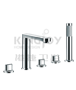 (KJ808S000) 5-hole bath/shower mixer deck-mounted