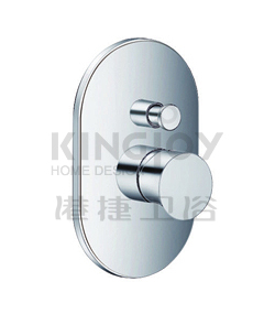 (KJ815X000) Single lever concealed 4-way bath/shower mixer with diverter