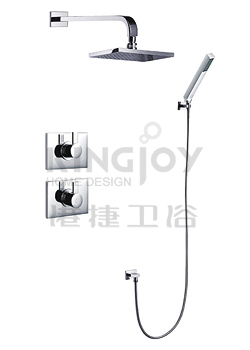 (KJ8128450) Thermostatic concealed shower mixer with handshower