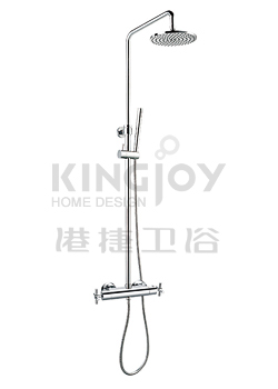 (KJ8218320) Thermostatic shower mixer with rain shower
