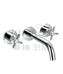 (KJ821Q000) Two-handle basin mixer wall-mounted