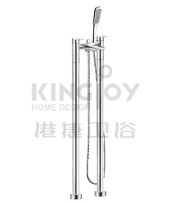 (KJ833M002) Two-handle bath/shower mixer floor-mounted