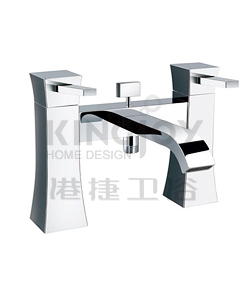 (KJ818M000) Two-handle deck bath/shower mixer