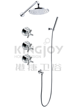 (KJ8218401) Wall thermostatic concealed shower mixer