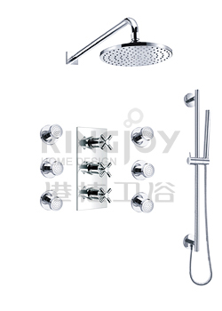 (KJ8218420) Wall thermostatic concealed shower mixer