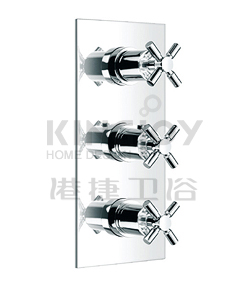 (KJ8214104) Wall thermostatic shower mixer with diverter