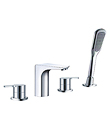 (KJ805R000) 4-hole bath/shower mixer deck-mounted