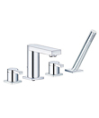 (KJ816R000) 4-hole bath/shower mixer deck-mounted