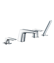 4-hole deck bath/shower mixer