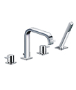 (KJ812R000) 4-hole deck bath/shower mixer