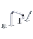 (KJ812R001) 4-hole deck bath/shower mixer