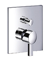 (KJ812X000) Single lever concealed 4-way bath/shower mixer with diverter