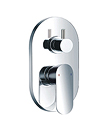Single lever concealed 5-way bath/shower mixer without diverter