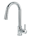 (KJ807G002) Single lever sink mixer with pull-out handshower
