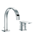 (KJ806A002) Single lever two-hole basin mixer