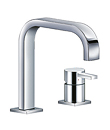 Single lever two-hole basin mixer