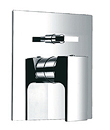 (KJ802X000) Single lever wall 4-way mixer with diverter