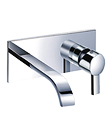 (KJ812V001) Single lever wall basin mixer