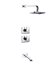 (KJ8128460) Thermostatic concealed bath/shower mixer