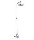 (KJ8218308) Thermostatic shower mixer with rain shower