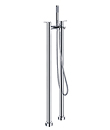 Two-handle bath/shower mixer floor-mounted