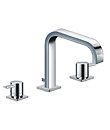 Two-handle deck basin mixer