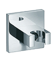 Wall outlet with shower holder