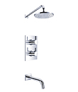 Wall thermostatic concealed bath/shower mixer